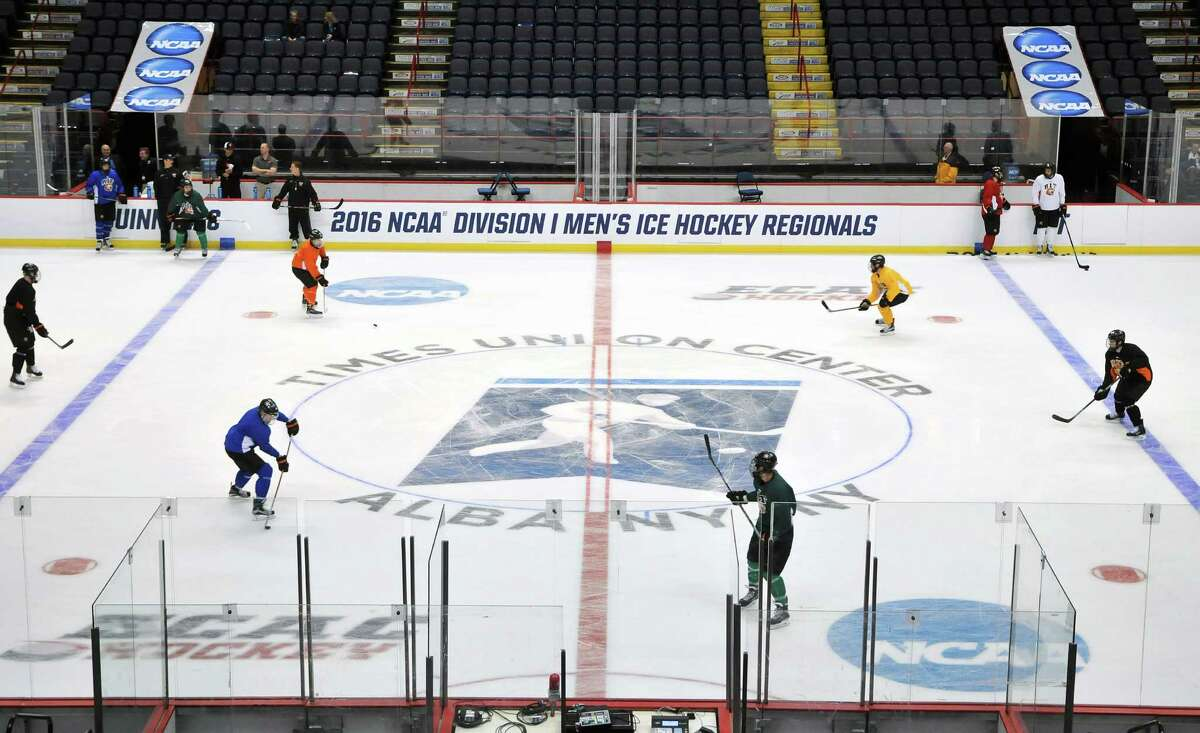 The NCAA hockey regionals will be played March 27-28, 2021, at Times Union Center for the first time since 2016. (Brittany Gregory / Special to the Times Union)