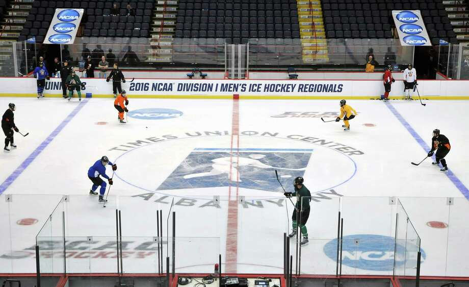 The NCAA announced Friday morning that Times Union Center in Albany has been selected as one of four regional sites for the NCAA hockey regionals in 2020. Photo: Brittany Gregory / 10035972A