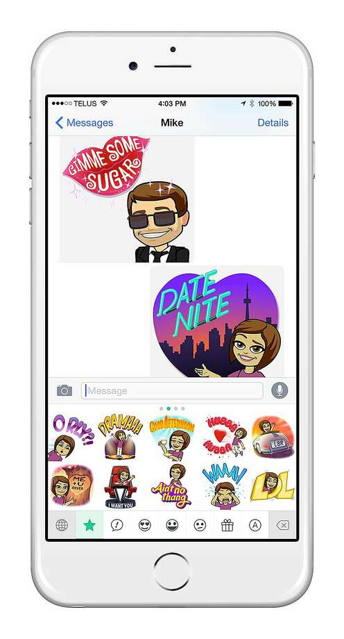 Snapchat acquires Bitstrips, the creator of a personalized emojis app called Bitmoji. Photo: Bitstrips