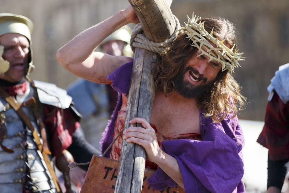 Around the world actors perform as Jesus Christ in Passion Plays that celebrate Easter. Keep clicking to learn more about this Catholic tradition. Photo: Anadolu Agency, Getty Images