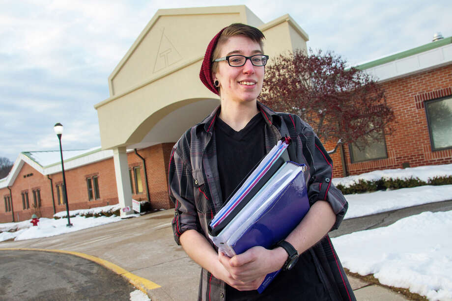 Emerson Cheney is a transgender student at Tunxis Community College in Farmington, Conn., seen here Feb. 9, 2016. Photo: Tony Bacewicz / CHit.org / Contributed Photo / Connecticut Post Contributed