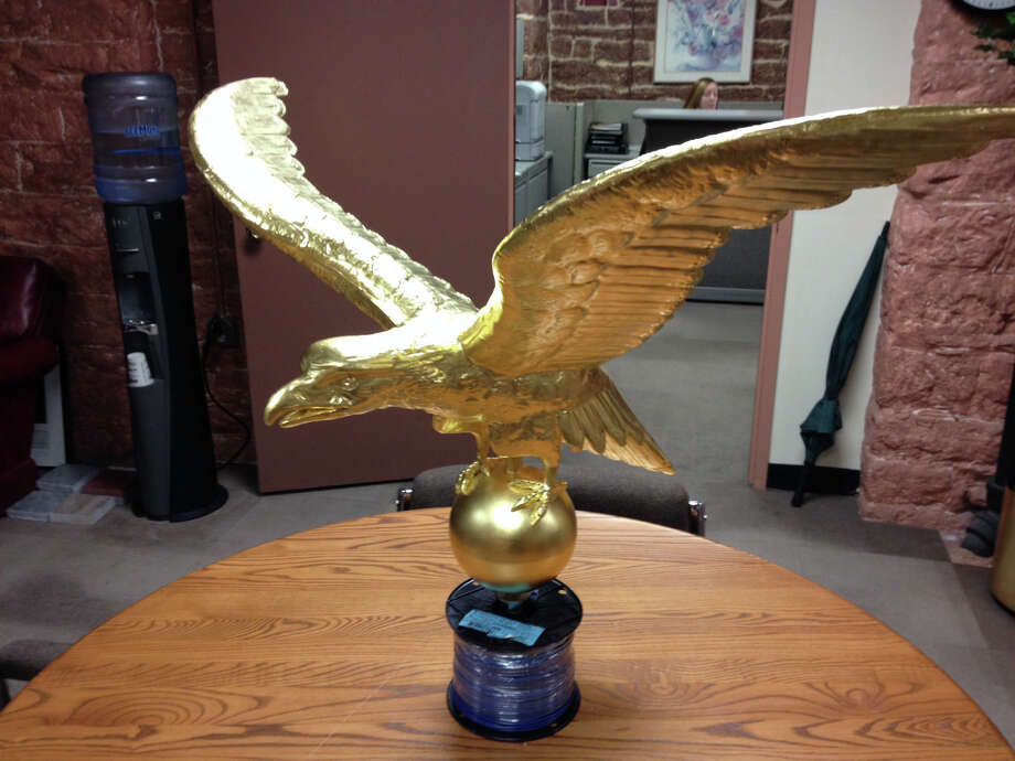 One of two new golden eagles that will be placed atop a Capitol flagpole in Hartford. Photo: Ken Dixon / Contributed Photo / Stamford Advocate  contributed