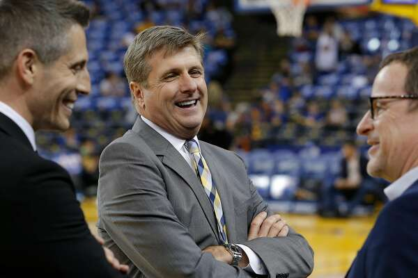 Rick Welts president and chief operating officer of the Golden State Warriors at Oracle Arena in Oakland, California, on Fri. March 25, 2016.
