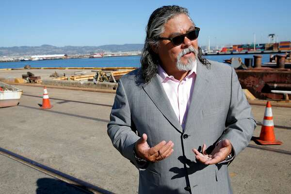 Phil Tagami at the site of a development at the Oakland Army Base in Oakland, California, on Wednesday, Sept. 23, 2015.