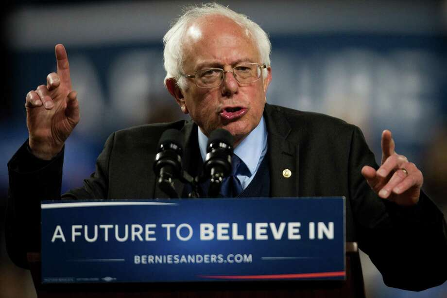 """Sen. Bernie Sanders campaigned against the Trans Pacific Partnership in his bid for the Democratic presidential nomination. """"I am glad the Trans-Pacific Partnership is dead and gone,"""" Sanders aid after President Trump killed it. Photo: GRANT HINDSLEY, SEATTLEPI.COM / SEATTLEPI.COM"""