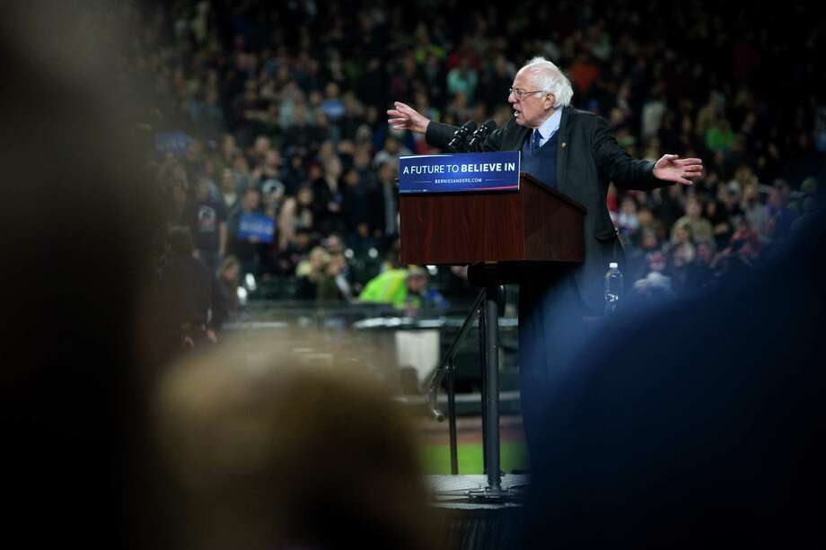 Democratic presidential candidate Bernie Sanders:  He staged big rallies in Washington four years ago, recently drew 17,056 people to Tacoma Dome. Photo: GRANT HINDSLEY, SEATTLEPI.COM / SEATTLEPI.COM