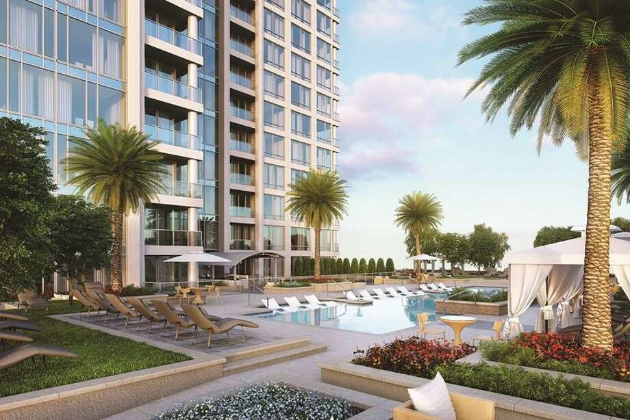 The Wilshire at River Oaks District, by Pelican Builders Inc., is a 17-story luxury high-rise.