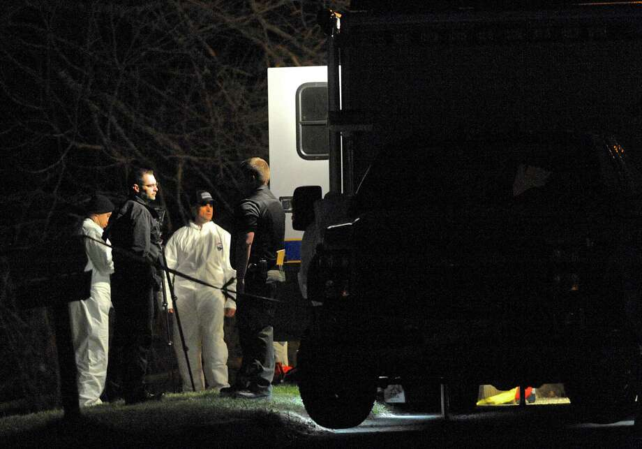 The Connecticut State Police Western District Major Crime Squad assisted Bethel police Friday night in the investigation of a shooting on Governors Lane in Bethel. Photo: H John Voorhees III / Hearst Connecticut Media / The News-Times