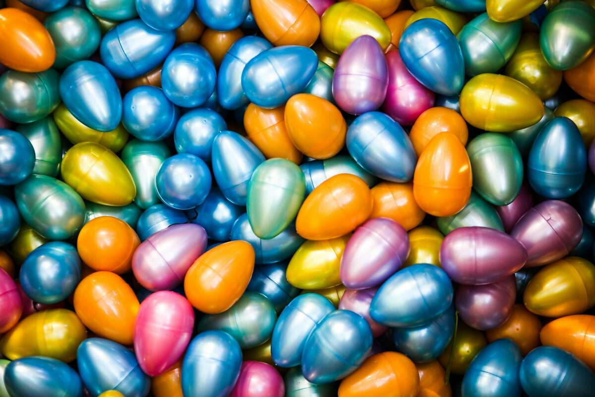 Easter eggs at Golden Gate Park, in San Francisco, California, on Saturday, March 26, 2016.