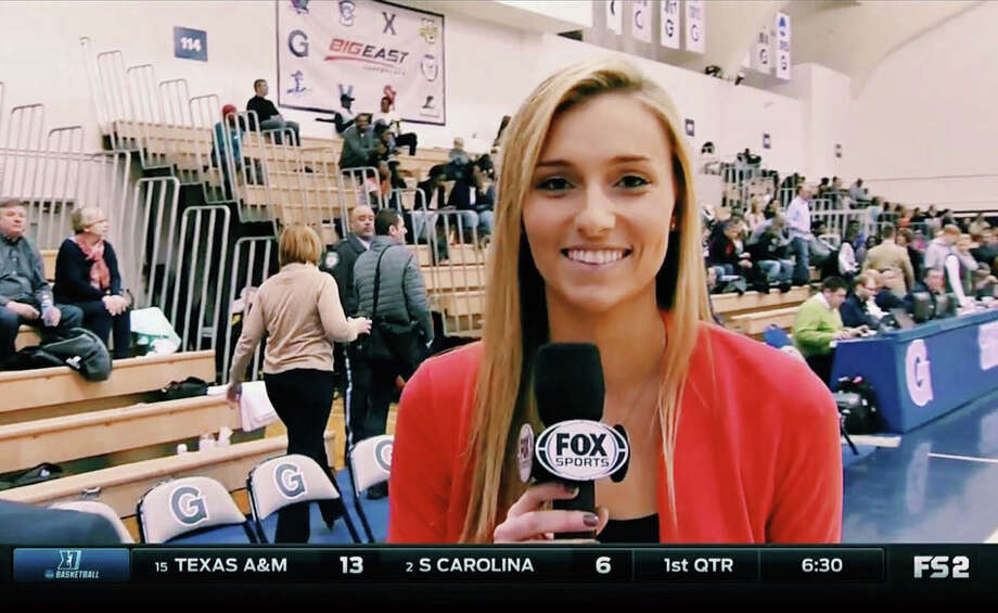Cayleigh Griffin announced she's moving on from the Spurs, to join Fox Sports Ohio, a day before the 2018-2019 started. Prior to working for the Spurs, Griffin was a digital correspondent for the Big East Network.  Photo: Contributed Photo / Contributed Photo / Stamford Advocate Contributed