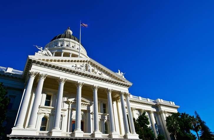 The California State Capitol in Sacramento, CA.