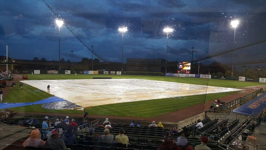 The Astros' potentially final spring training game in Kissimmee, Fla. was over before it began. Rain washed out the Astros' preseason matchup with the Florida Marlins. Photo: Evan Drellich