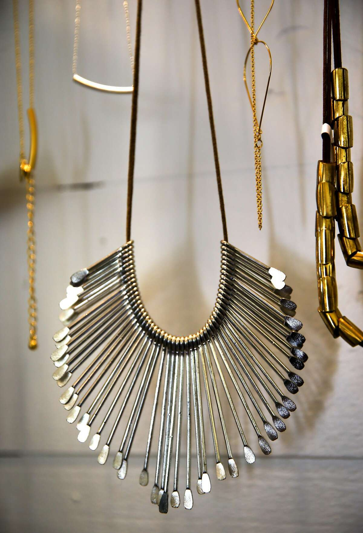 Amano Studio Jewelry of Sonoma is displayed at The Shop in Olema, California, on Sat. March 26, 2016.