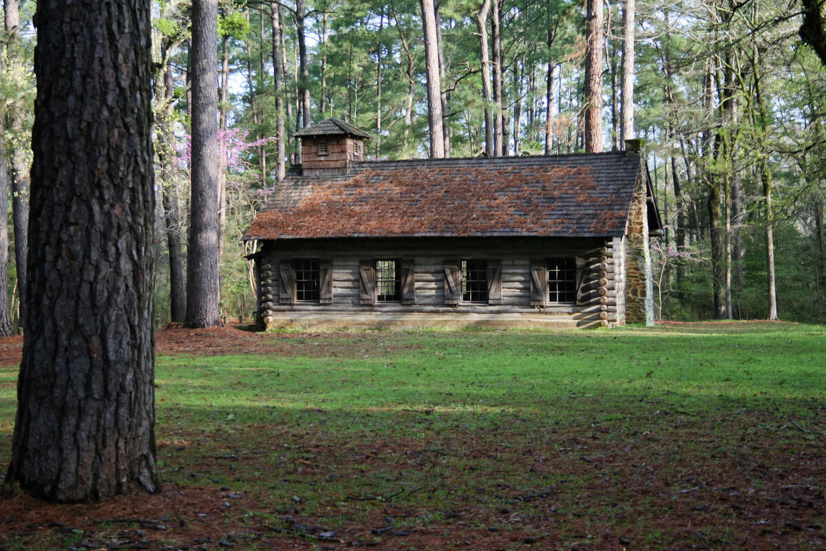 You can walk in the same footsteps as Davy Crockett at Mission Tejas State Park. Built in 1690, the park was constructed to commemorate the first Spanish mission in East Texas.