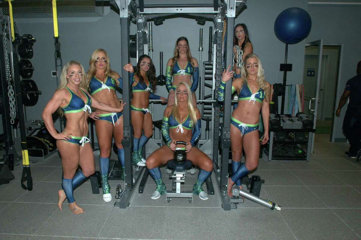 Seattle Mist players pose for a photo at the team's media day on March 27, 2016 at Force 10 Performance in Redmond, Washington.