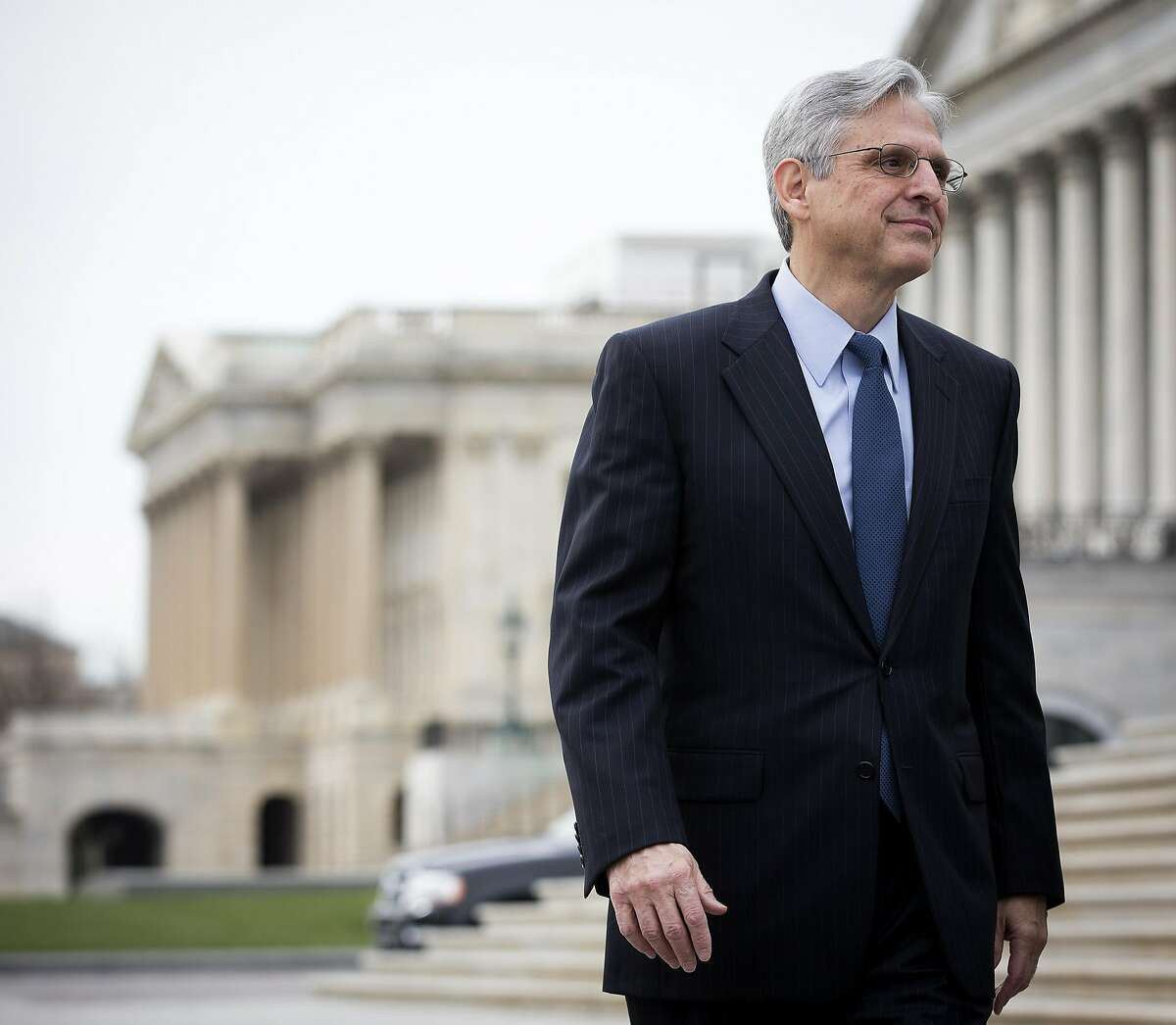 Judge Merrick Garland outside of the Capitol in Washington, March 22, 2016. Garland, President Barack Obama�s Supreme Court nominee, has deftly navigated Washington�s high-powered legal circles for decades. (Doug Mills/The New York Times)
