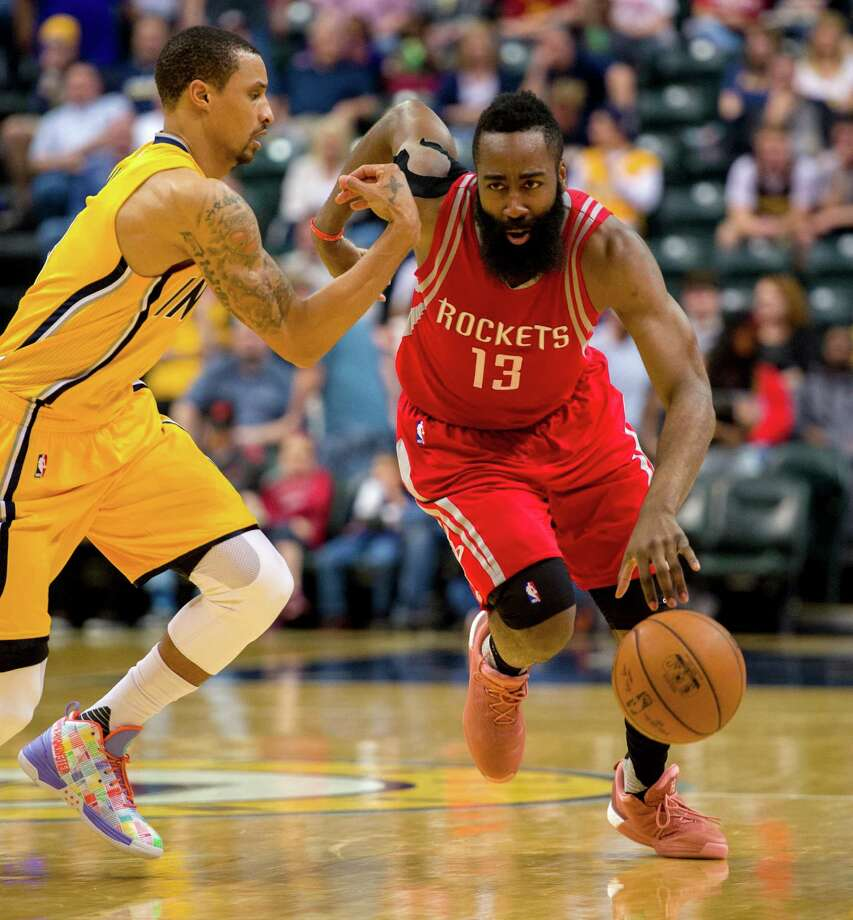 James Harden and the Rockets fell short Sunday night at Indiana, dropping them to 36-38 on the season. Photo: Doug McSchooler, AP / FR170771 AP