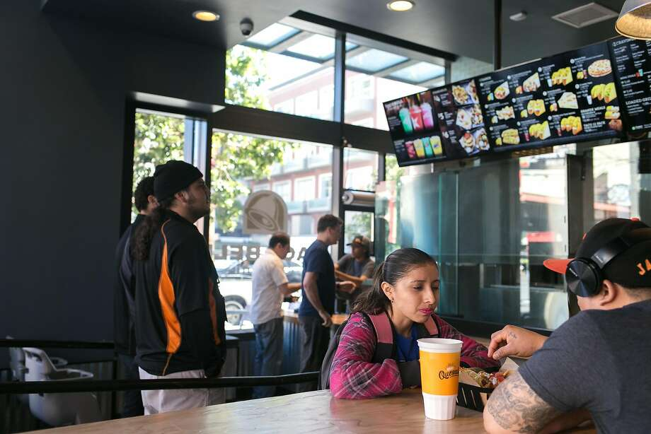 Customers inside of a Taco Bell Cantina restaurant in San Francisco. The fast food chain plans to open a Cantina restaurant in San Antonio, according to state records. Photo: Jen Fedrizzi, Special To The Chronicle