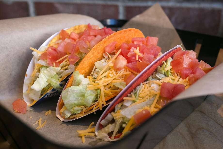 Doritos Locos Tacos at Taco Bell Cantina in S.F. Photo: Jen Fedrizzi, Special To The Chronicle