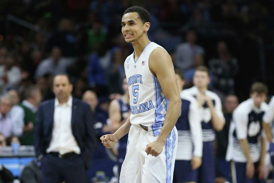 PHILADELPHIA, PA - MARCH 27:  Marcus Paige #5 of the North Carolina Tar Heels reacts in the second half against the Notre Dame Fighting Irish during the 2016 NCAA Men's Basketball Tournament East Regional Final at Wells Fargo Center on March 27, 2016 in Philadelphia, Pennsylvania. Photo: Streeter Lecka, Getty Images / 2016 Getty Images