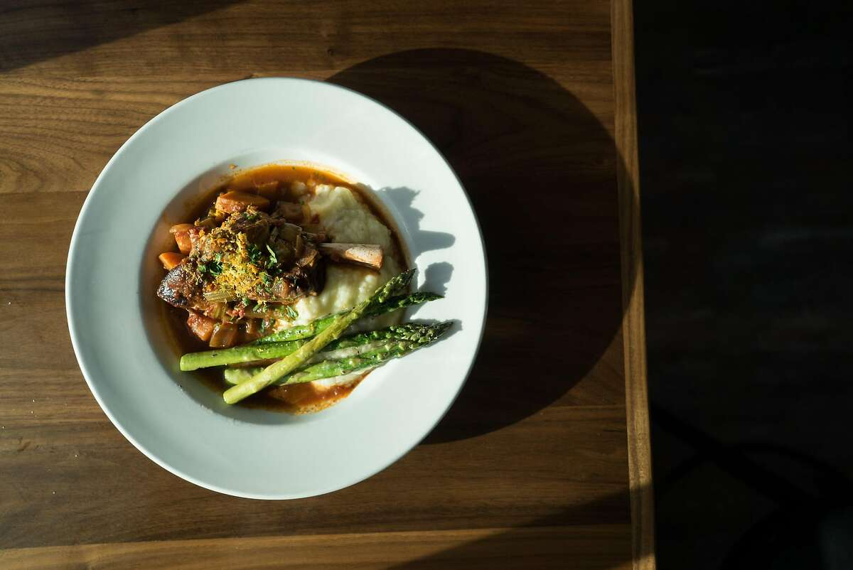 The Lamb Shank is seen at Park Place in Lakeport, Calif. on Saturday, March 26, 2016. Park Place restaurant features dining near the lake.