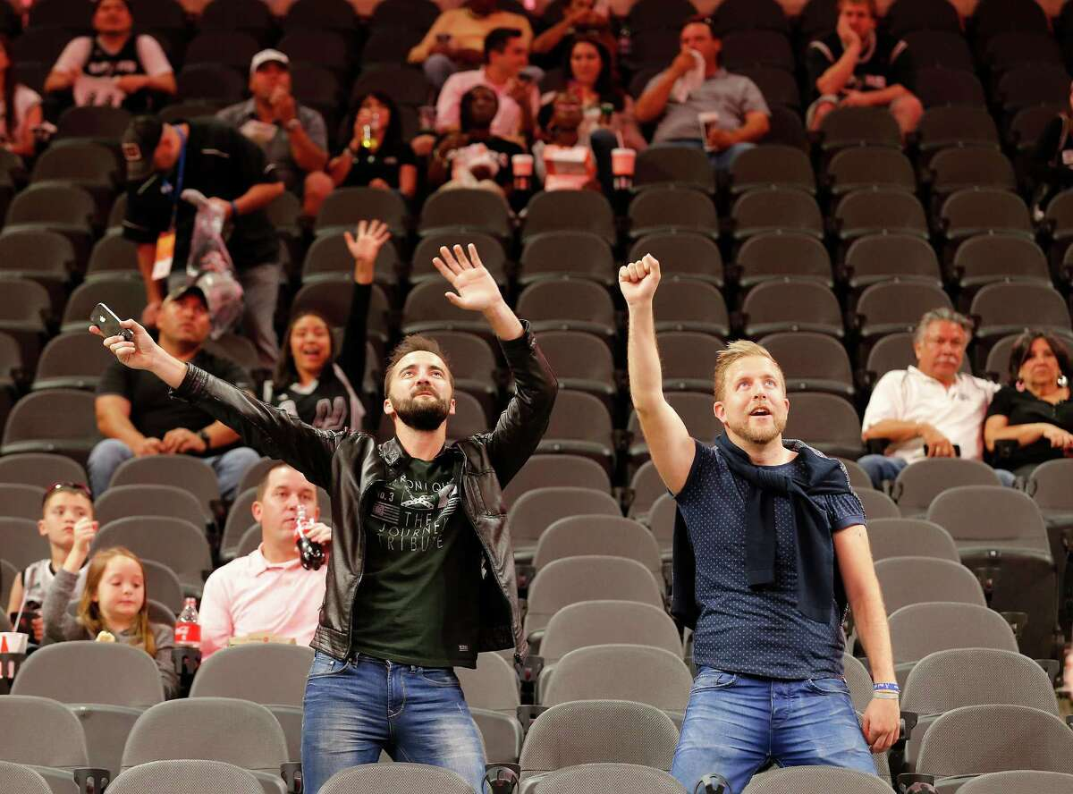 """Spurs fans will return to games inside the AT&T Center a year and two days since the last time they were yelling """"Go Spurs Go"""" there."""