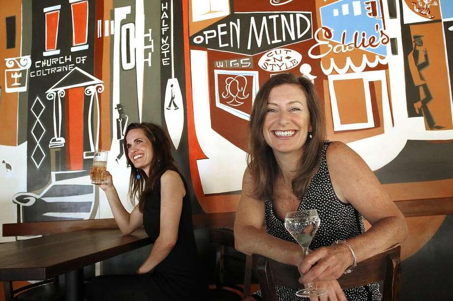GFF Magazine founder Erika Lenkert (right) at Nopa in San Francisco. Photo: Liz Hafalia, The Chronicle