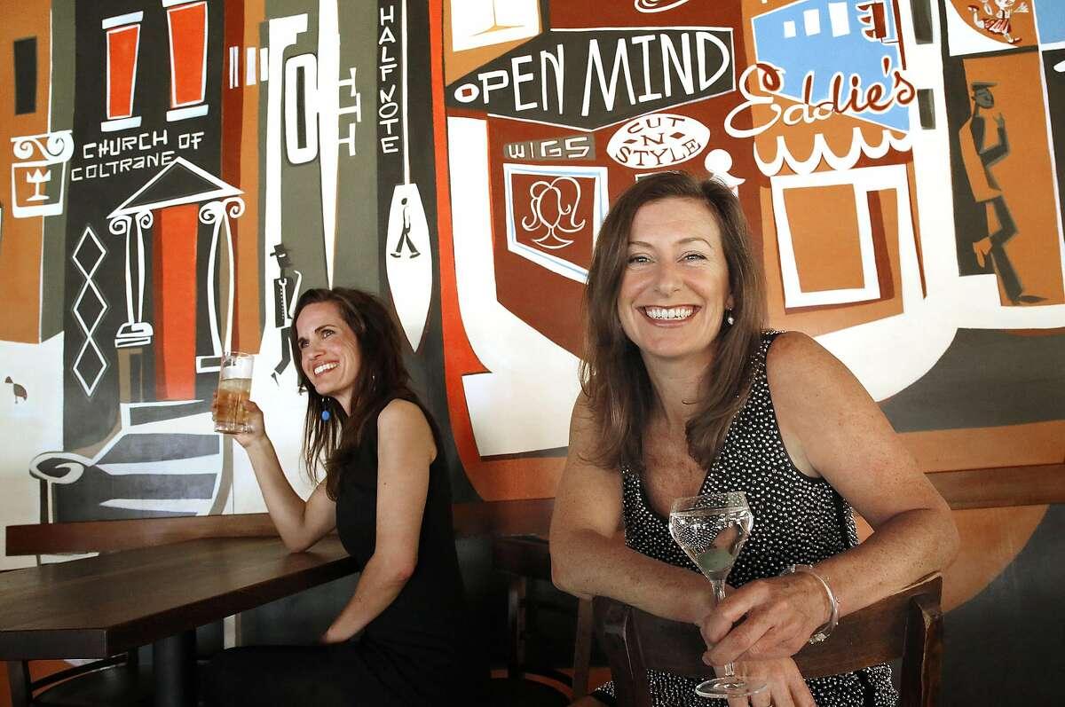 GFF Magazine founder Erika Lenkert (right) at Nopa in San Francisco.