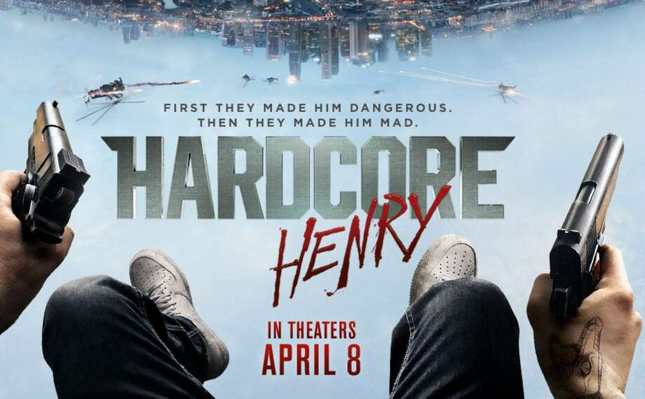 Hardcore Henry opening April 8.A first-person action film from the eyes of Henry, who's resurrected from death with no memory. He must discover his identity and save his wife from a warlord with a plan to bio-engineer soldiers. Starring Sharlto Copley, Tim Roth, Haley Bennett, Danila Kozlovsky. Photo: Stxmovies.com/hardcorehenry