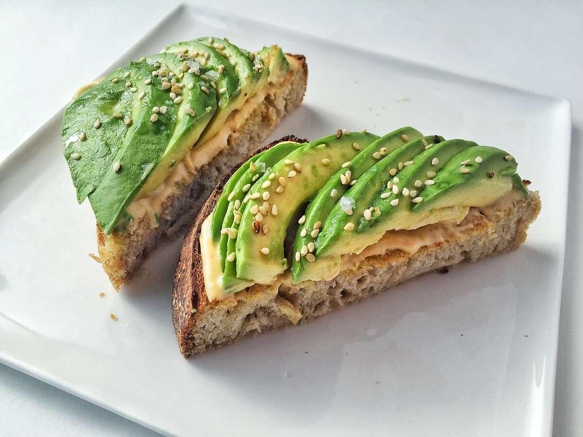 Uni avocado toast from Sara Hauman