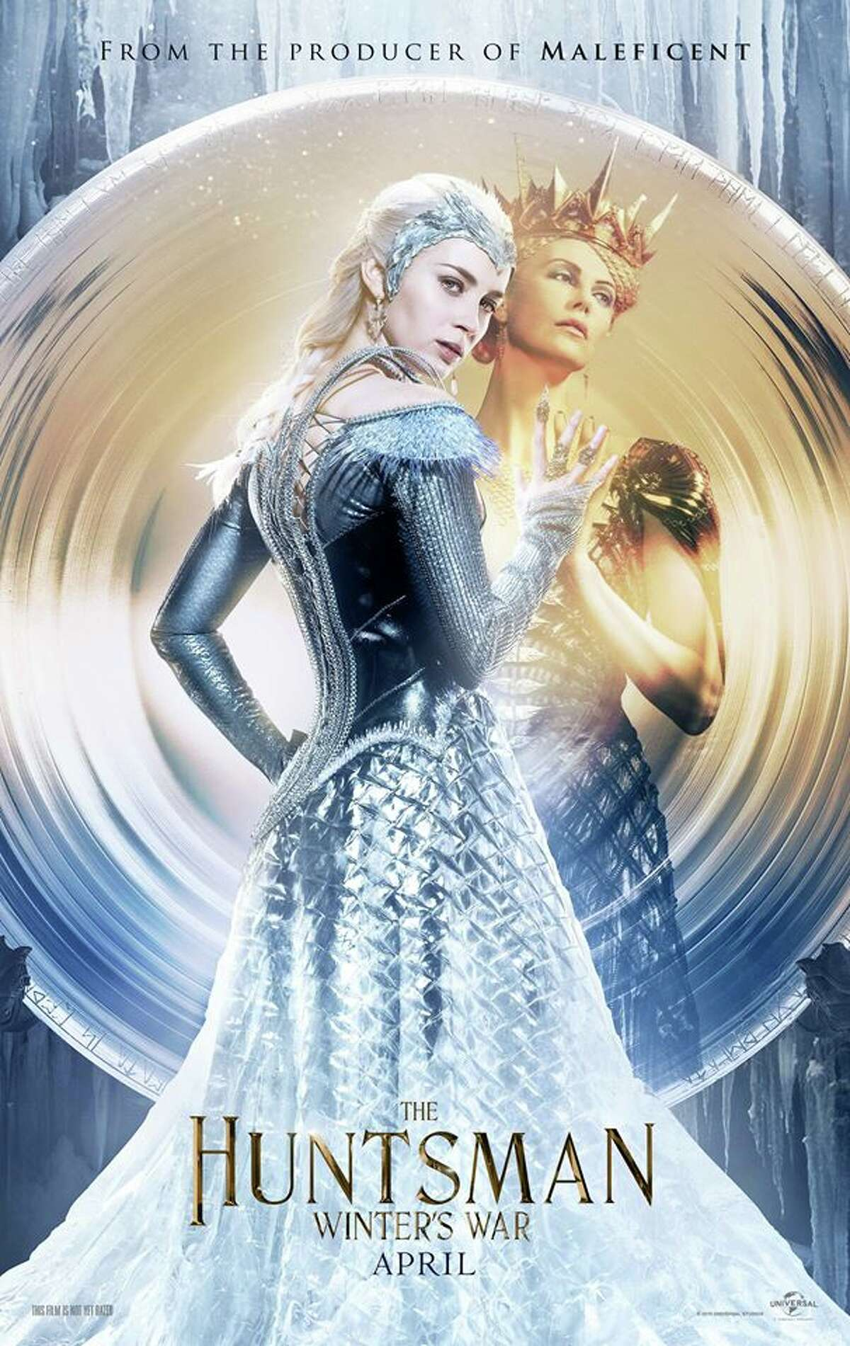 The Huntsman: Winter's War opening April 22. As two evil sisters prepare to conquer the land; two renegades - Eric the Huntsman - who previously aided Snow White in defeating Ravenna, and his forbidden lover, Sara set out to stop them. Starring Chris Hemsworth, Jessica Chastain, Charlize Theron, Emily Blunt.