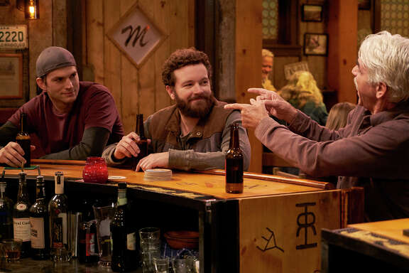 """Ashton Kutcher and Danny Masterson reunite to play brothers and trade zingers with Sam Elliott in """"The Ranch"""" sitcom."""
