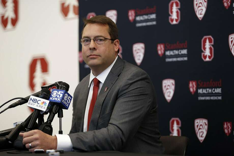 New Stanford men's basketball head coach Jerod Haase listens to a question from a reporter on campus in Palo Alto, California, on Monday, March 28, 2016. Photo: Connor Radnovich, The Chronicle