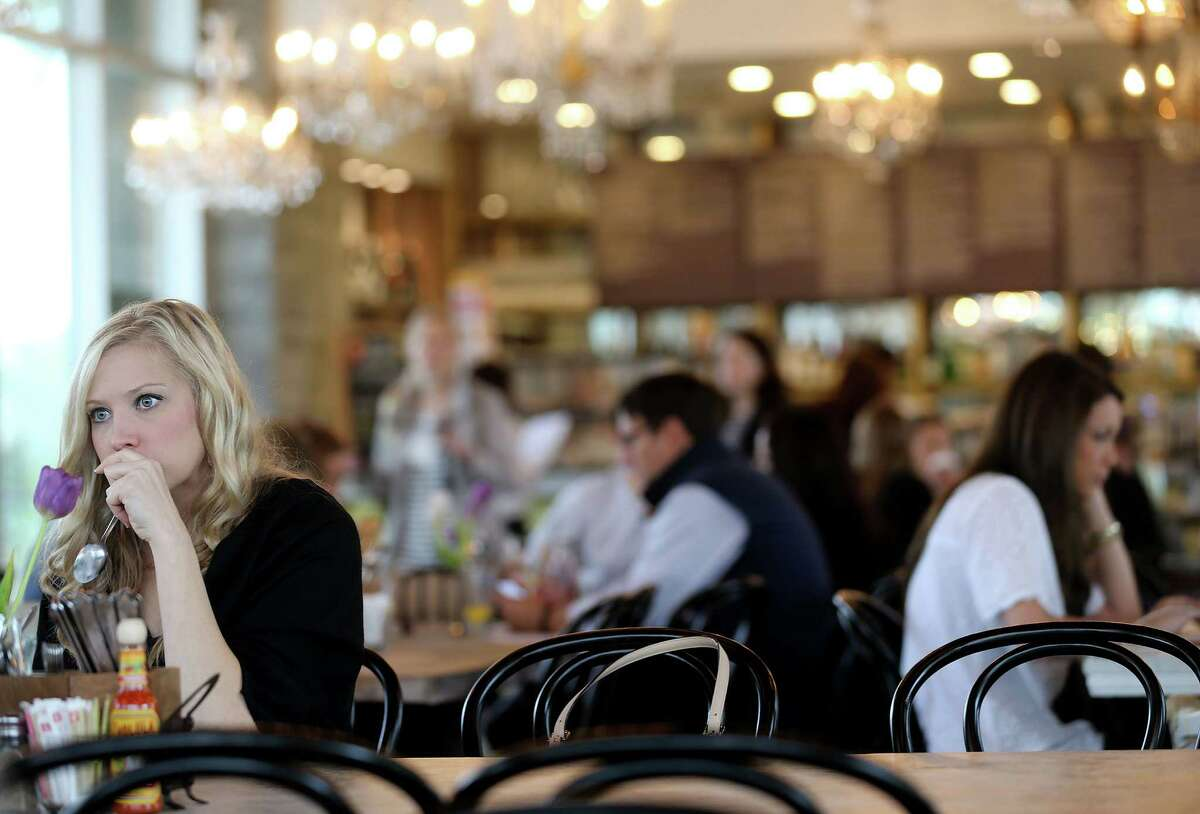 Patrons enjoy their meal at The Dunlavy, a private events space off of Allen Parkway at Buffalo Bayou, which is opened for breakfast and lunch on Tuesday, March 8, 2016, in Houston. ( Elizabeth Conley / Houston Chronicle )