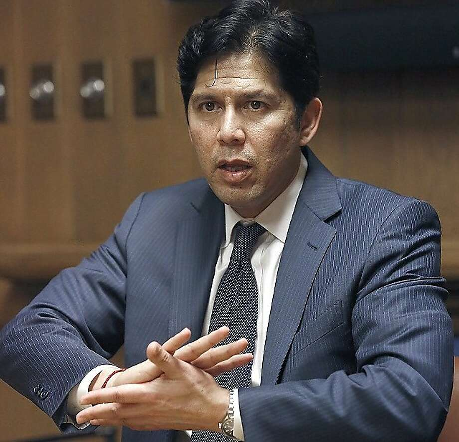 California Senate President pro Tempore Kevin de León says he hopes to send a bill creating a proposed new retirement plan backed by the state to the governor's desk by July. Photo: Liz Hafalia, The Chronicle
