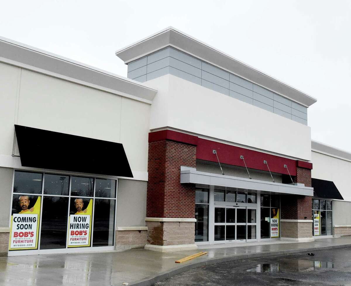 Bob's Furniture nears completion Monday March 28, 2016 in Latham, N.Y. (Skip Dickstein/Times Union)