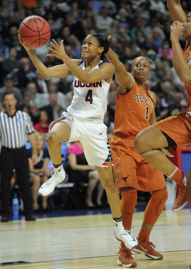 UConn's Moriah Jefferson had 11 points and nine assists Monday against Texas. Photo: Brian A. Pounds / Hearst Connecticut Media / Connecticut Post