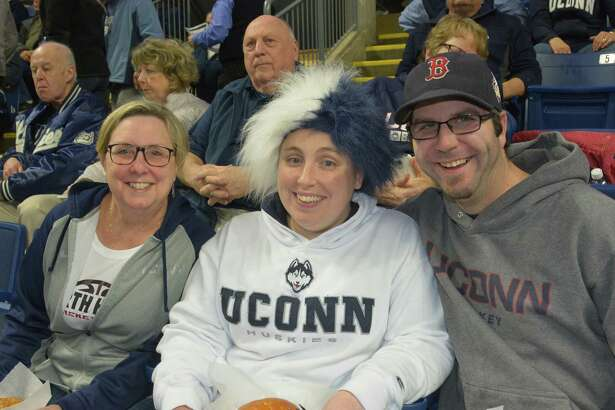 The UConn women took on the University of Texas during the NCAA Division I Women's Basketball Championship at Webster Bank Arena on March 28, 2016. Were you SEEN cheering them on?