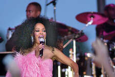 Diana Ross during concert at RSB Park, Greenwich in 2004.