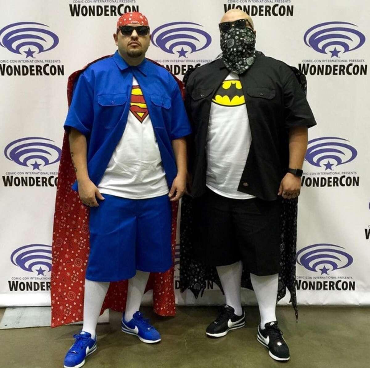 Charlie and Junior DeLira-Zepeda as Super Cholo and Vato Man.
