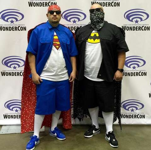 the latest 113ab 76c9a Charlie and Junior DeLira-Zepeda as Super Cholo and Vato Man.