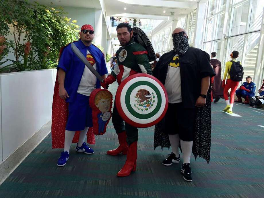"A new troupe of crime-fighting heroes assembled in Los Angeles over the weekend for WonderCon 2016: ""Captain Mexico,"" ""Super Vato"" and ""Super Cholo."""