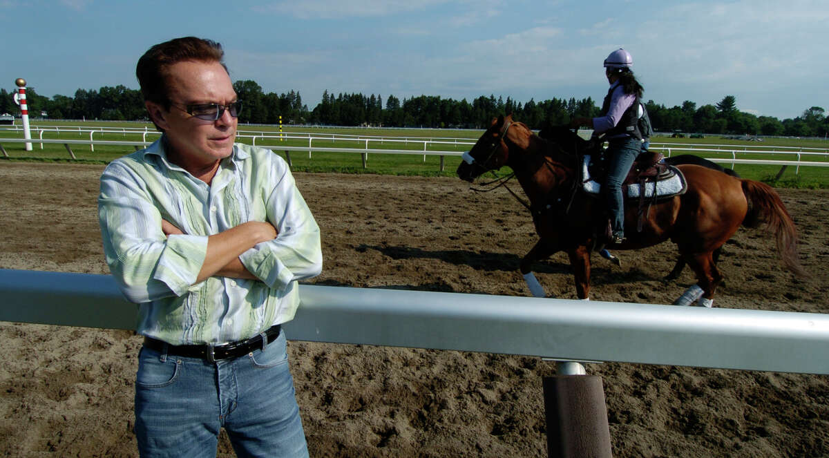 David Cassidy at the Oklahoma Training Track adjacent to Saratoga Race Course July 30, 2005. (Skip Dickstein/Times Union archive)
