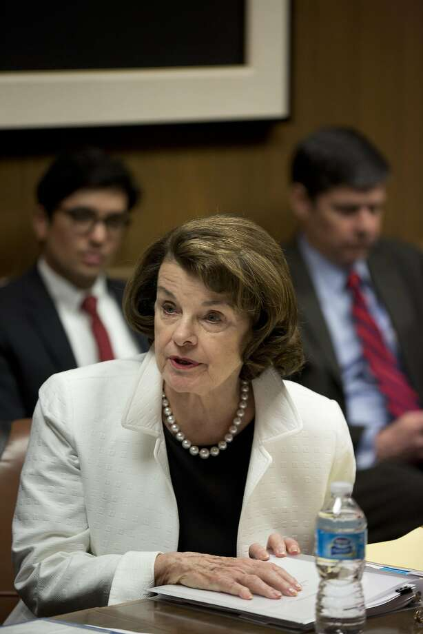 Sen. Dianne Feinstein spoke to The Chronicle's editorial board Tuesday. Photo: Tim Hussin, The Chronicle