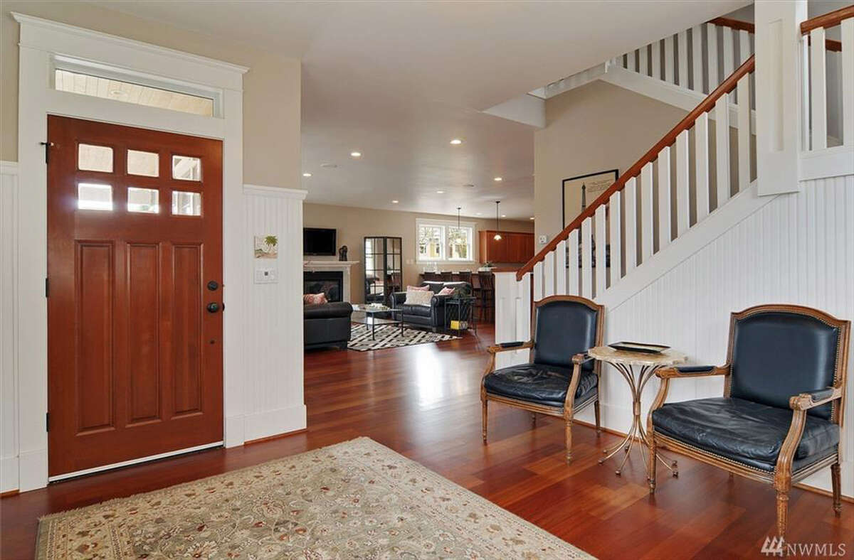 The home has a feel of a large, older Wallingford home. But it was built in 2006.