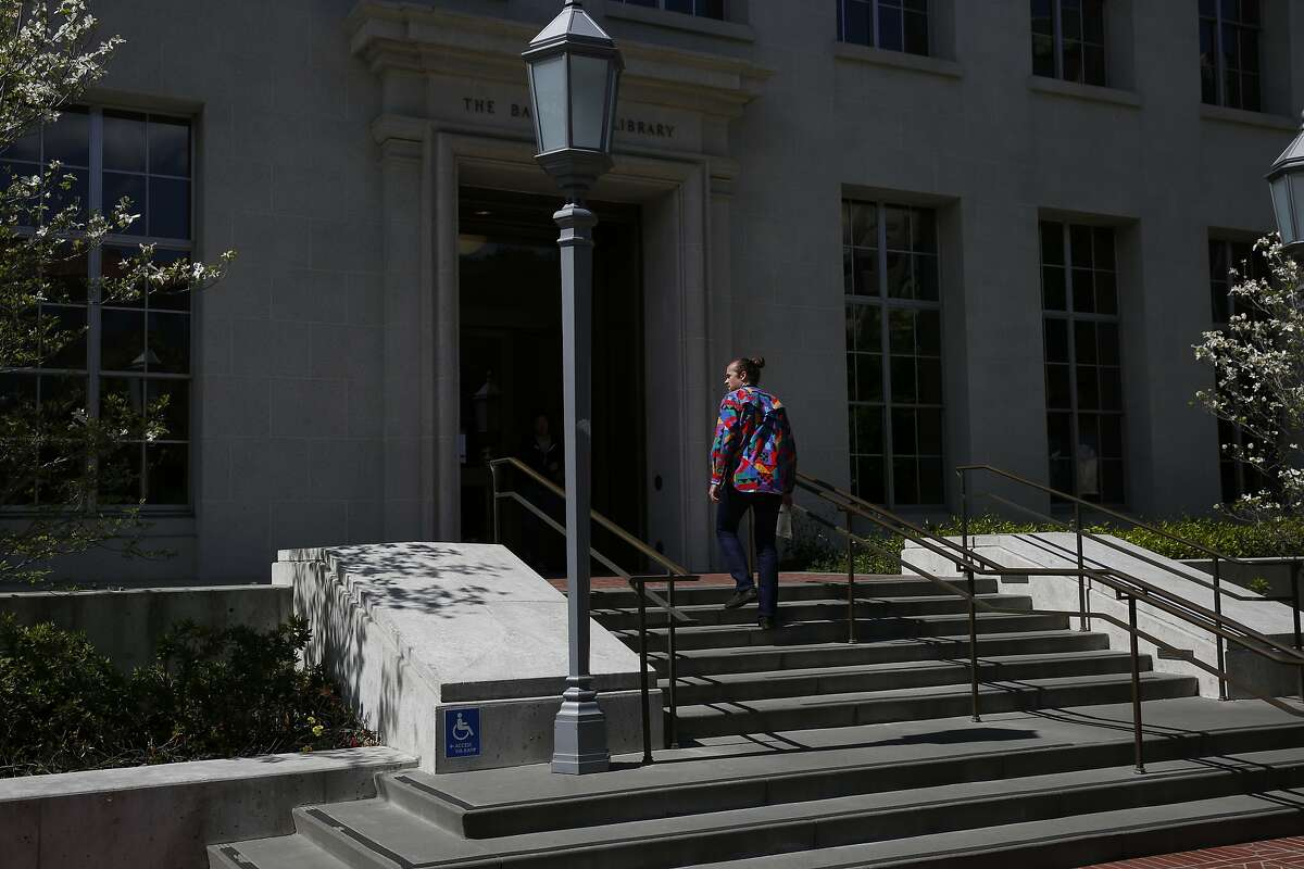 A man walks into the Bancroft Library at University of California, Berkeley campus March 29, 2016 in Berkeley, Calif.