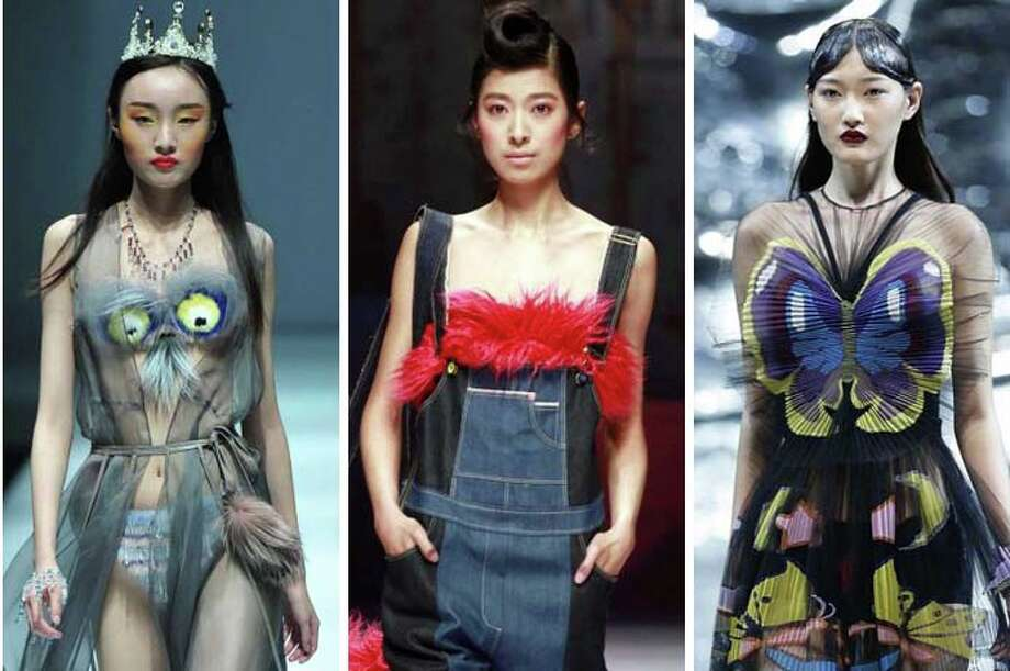 Date night gets boring after a while, so why not spice things up with some creative fashion embellishments or a Rorschach test? The designers of China Fashion Week have a few ideas.