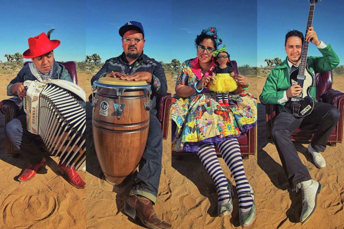 Grammy-winning Los Angeles pop act brings its fun and culturally rich mix of cumbias, bossa nova,boleros and Latin rock. La Santa Cecilia's