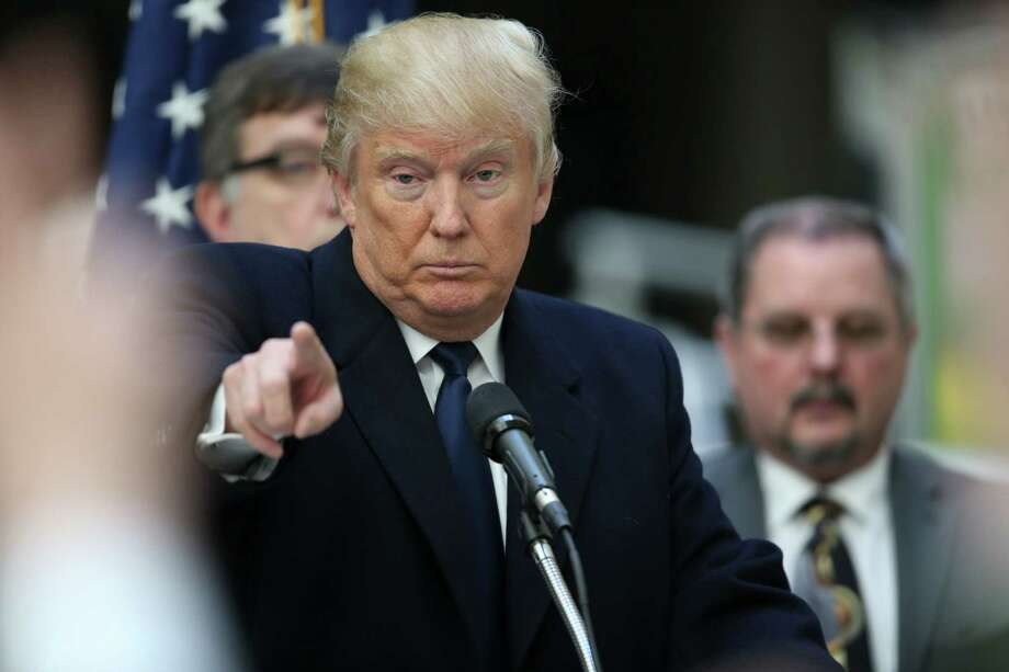 FILE — Donald Trump, a Republican presidential hopeful, during a news conference at his new Trump Hotel in Washington, March 21, 2016. Trump's suggestion that Japan and South Korea should take more responsibility for their defense has provoked worries in Asia about the potential for a regional arms race. (Doug Mills/The New York Times) Photo: DOUG MILLS, STF / NYT / NYTNS