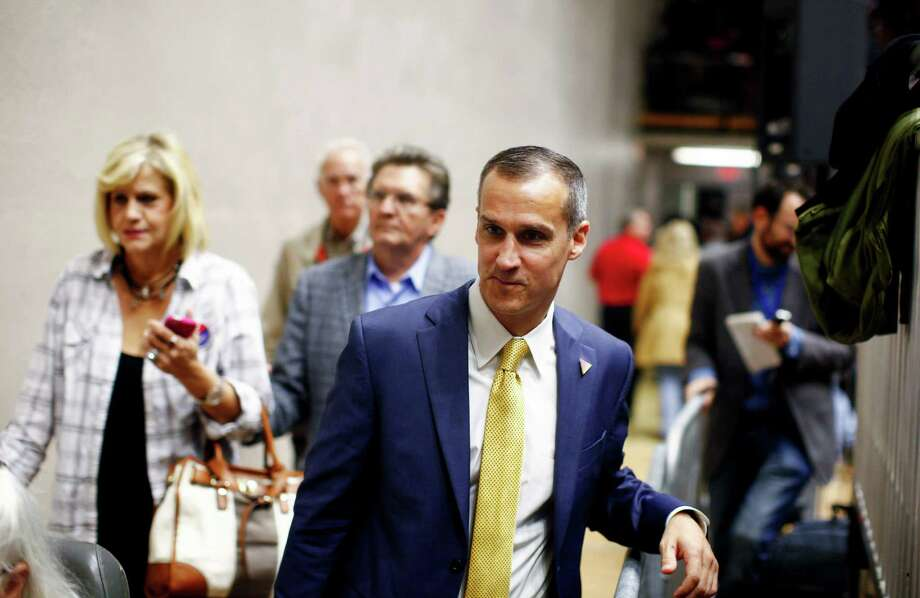 FILE — Corey Lewandowski, Donald Trump's campaign manager, after a rally in Spartanburg, S.C., Nov. 20, 2015. Michelle Fields, a reporter with the conservative-aligned Breitbart News says that Lewandowski dragged her down by the arm as she was asking Trump a question — a confrontation that launched a flurry of allegations, counter-allegations, and now, a police report. (Travis Dove/The New York Times) Photo: TRAVIS DOVE, STR / NYTNS